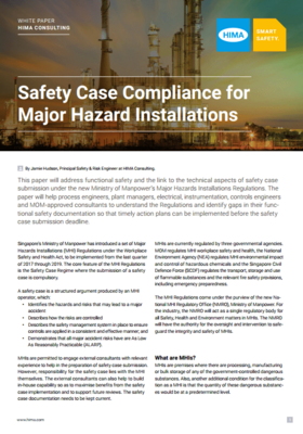 Safety Case Compliance for Major Hazard Installations